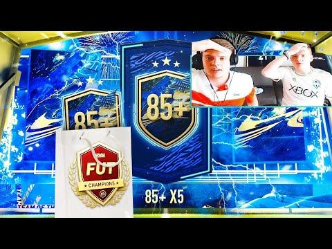 NOTRE PACK 85+ x5 & LE RÉSUMÉ FUT CHAMPIONS AVEC CRUYFF & SALAH ! FIFA 21 Ultimate Team avec 0€ #140