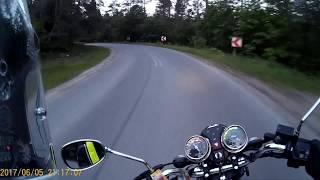 MotoVlog #42 - O niebezpiecznym zakręcie za Przywidzem i najdłuższej trasie jednego dnia na 125 cc