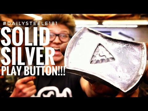 FORGED: SOLID-SILVER PLAY BUTTON!!!