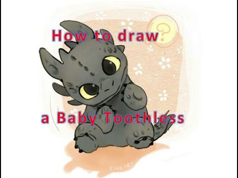 How To Draw Night Fury Baby Toothless Animated Cartoon Character Youtube