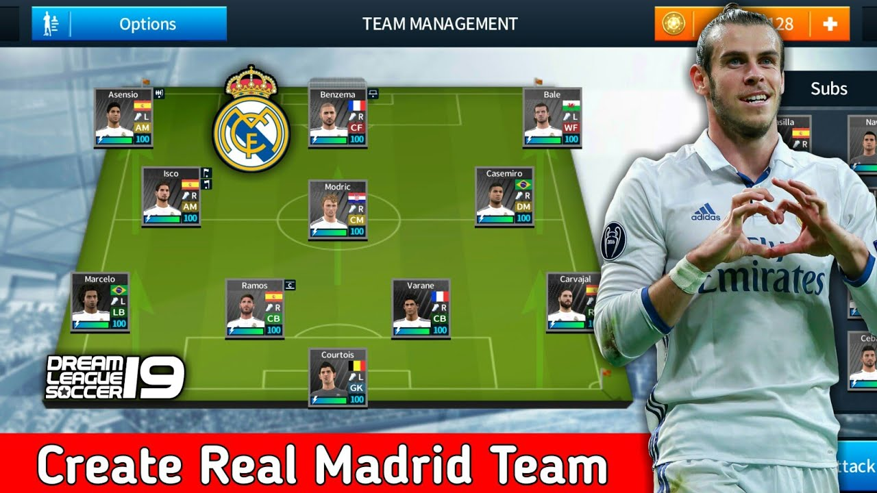 c829dc59884 Create Real Madrid Team ☆ Kit Logo   Players ☆ Dream League Soccer 2018