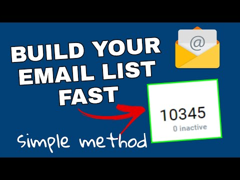 Email list building: How I build 10000 emails promoting ClickBank products