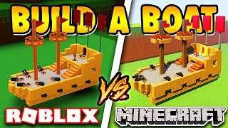 Build a Boat ROBLOX vs MINECRAFT ( Wich is better?!?! )