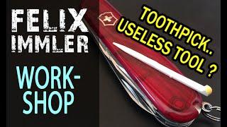 4 Special Tricks with the Victorinox Toothpick - SAK customize & maintenance Workshop (11/15)