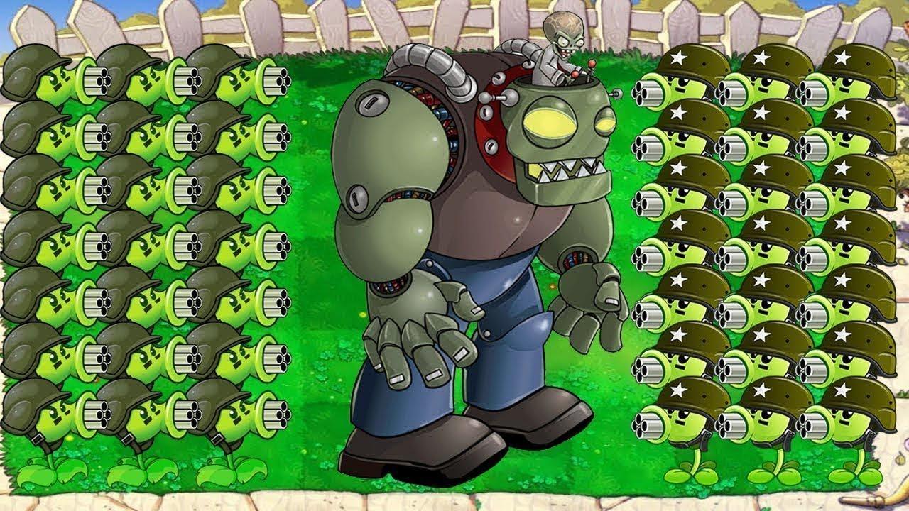 999 Gatling Pea vs Zomboss vs 999 Gargantuar Hack Plants vs Zombies