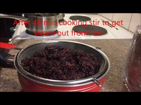 How to Steam Black Glutinous Rice ( Chong's Kitchen ).