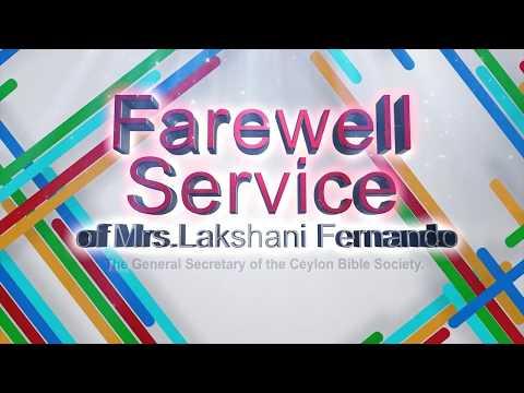 Thanksgiving Service for the Ministry of Mrs.Lakshani P. Fernando