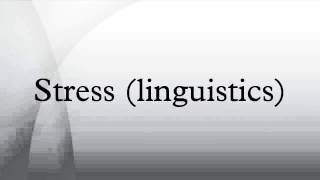 Stress (linguistics)