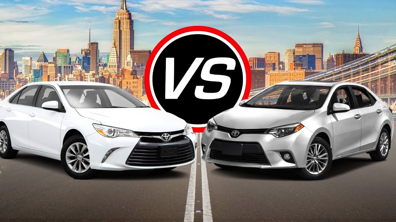 2016 Toyota Camry I4 Vs Corolla   Spec Comparison!