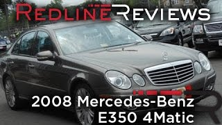 2008 mercedes benz e350 4matic review walkaround start up test drive