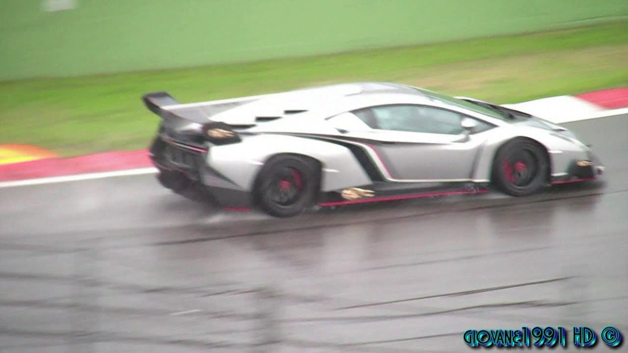 exclusive - lamborghini veneno: first time on track - youtube