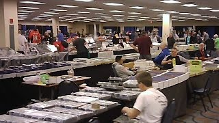 ATTENDING A MASSIVE BASEBALL CARD SHOW AT THE CONVENTION CENTER