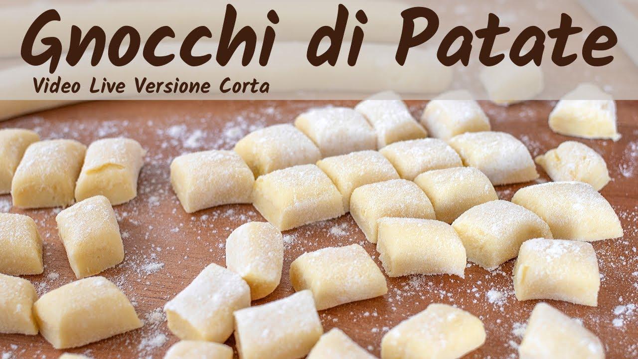 Gnocchi Di Patate Ricetta Tradizionale.Gnocchi Di Patate Fatti In Casa Ricetta Facile In Diretta Video Live Versione Corta Youtube