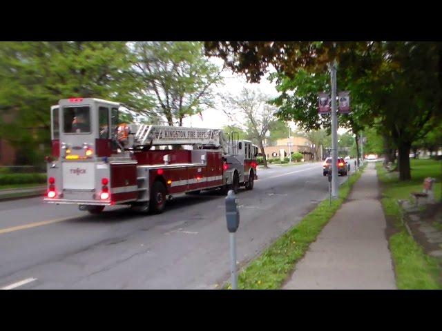 Kingston Fire Department Truck 1 Responding