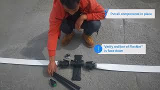 How to install mobile sprinkler system set with NetaStand™ and Pre-Cut FlexNet™ HP | Netafim