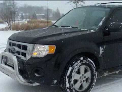 First Snow With My Ford Escape 09 Custom Edition Youtube