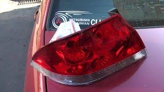 Как закрепить фары Mitsubishi Lancer 9 от кражи
