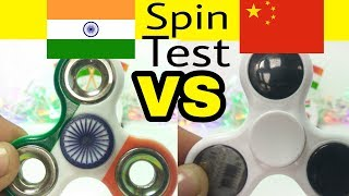 Made in india FIDGET SPINNER VS Chinese LED FIDGET SPINNER   SPIN TEST   by Tech india Tips