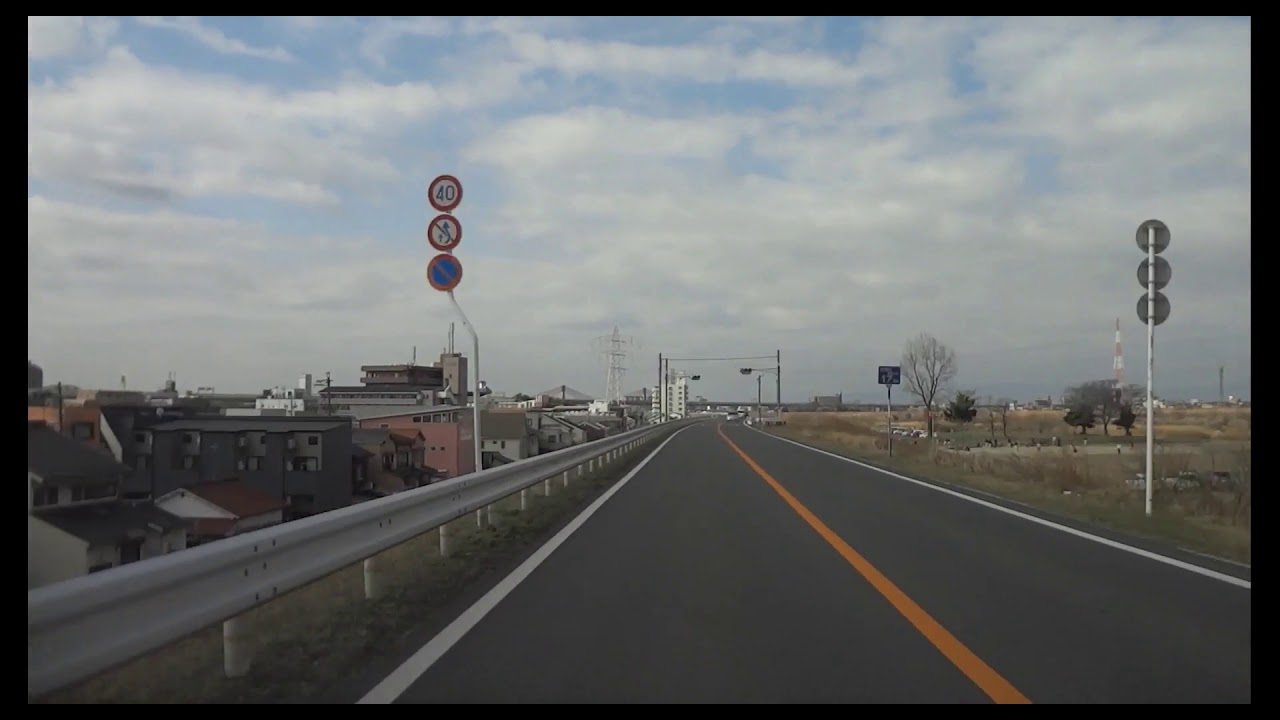 Timelapse×16 走行撮影【矢田川左岸堤防道路+庄内川左岸堤防道路 ...