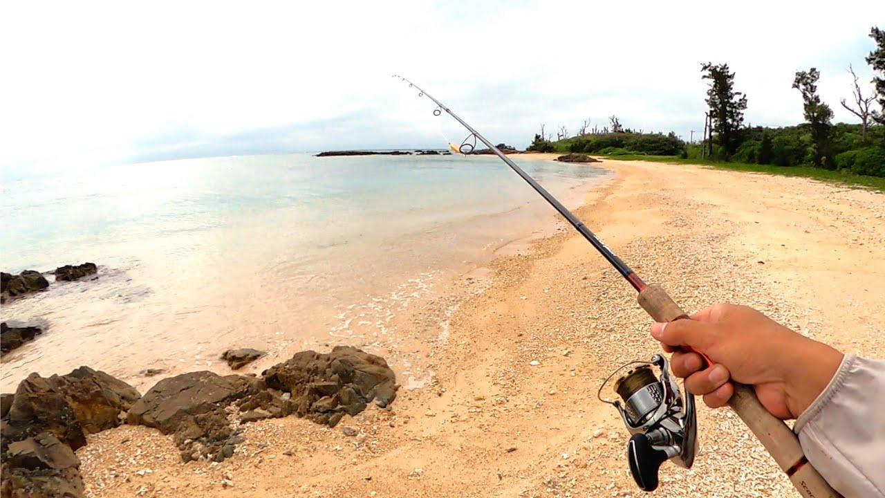 連休明け。誰もいなくなったビーチで釣りしてみると…