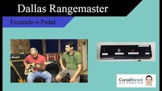 Testes do pedal distorção com uso do transistor germânio AC 128 - com Leo Fabbri na guitarra