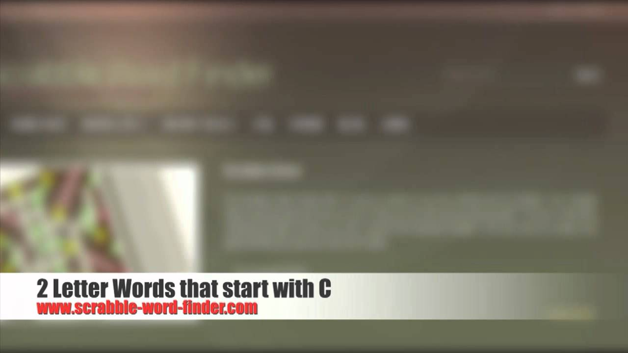 2 letter words that start with C   YouTube