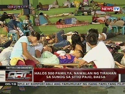 Halos 500 Pamilya, Nawalan Ng Tirahan Sa Sunog Sa Sitio Pajo, Baesa
