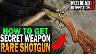Secret Weapon! How To Get The Rare Shotgun! Red Dead Redemption 2 Secret Items
