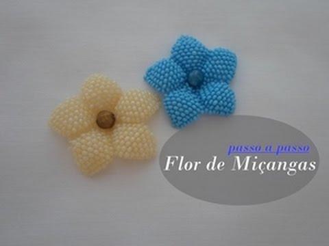 NM Bijoux - Flor de Miçanga - passo a...