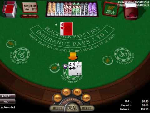 black jack betting