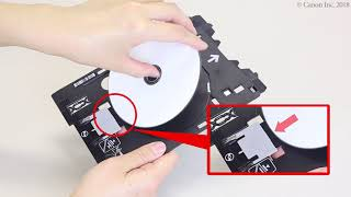 Disc label printing: from PC (macOS) (TS9500 series)