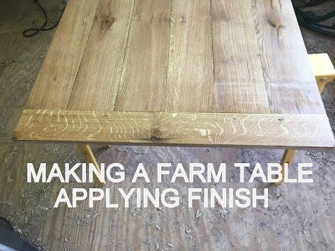 Making A Farm Table Lying Finish