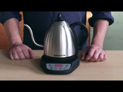How to use the digital control panel on your Bonavita Variable Temperature Kettle