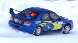Rally Cars on SNOW! - Lancia Delta, Subaru WRX STI, Peugeot 206 WRC & More at Ice Track!