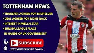 TOTTENHAM NEWS: Deals Agreed for Midfielder & Defender, Europa League Games, Interest in Welsh Star