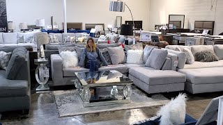 Delta Furniture Home Run Grey Sectional Sofa - Savvy Shopping Network