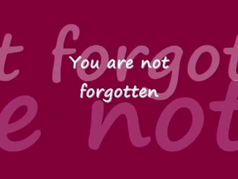 You Are Not Forgotten lyrics ~Israel Houghton