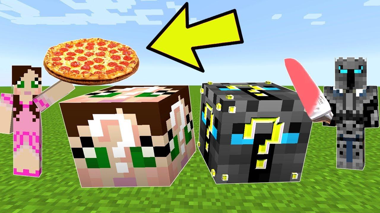 Minecraft Popularmmos Vs Gamingwithjen Lucky Block Challenge