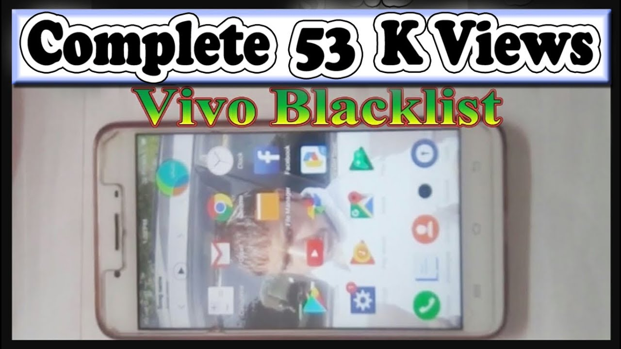 How to remove blacklist contact in Vivo Mobile setting