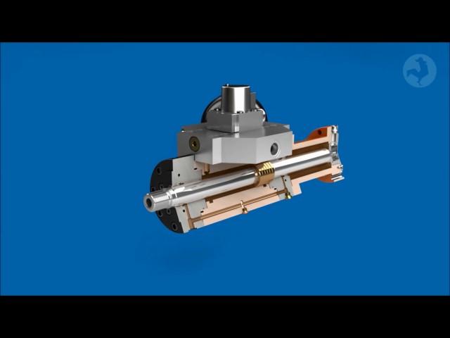 """Hänchen """"Servobear"""": Hydrostatisches Kolbenstangenlager - Hydrostatic piston rod bearing"""