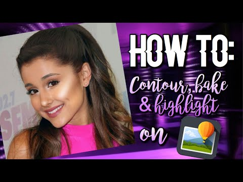 How to: Contour, bake & highlight on Superimpose | Sweetlikeari Tutorials💜