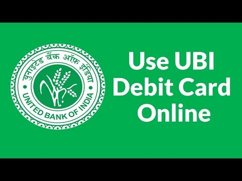 How to use United Bank of India Debit Card Online