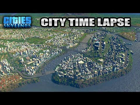 Cities Skylines PS4 Pre Zoned Map Time Lapse Full Region Prezondon City  Day/Night Cycle