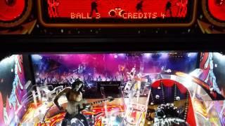 KISS Pinball rear panel red lighting effect