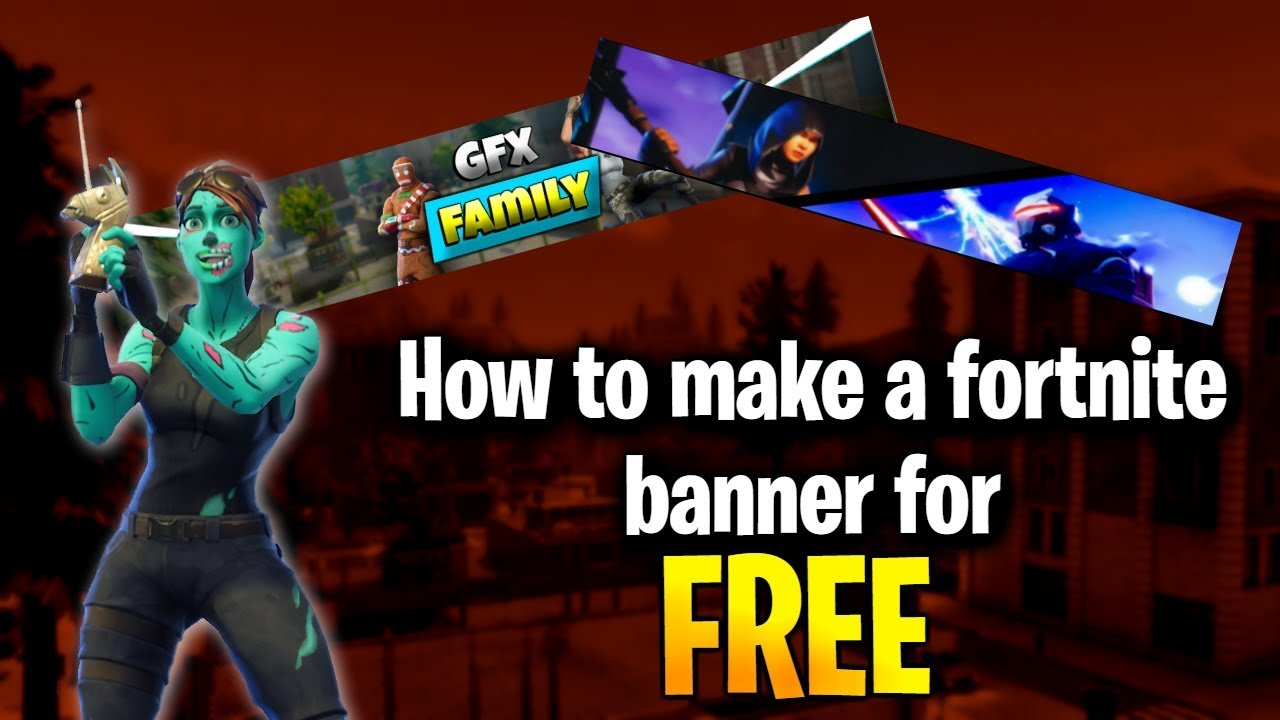 HOW TO MAKE A FORTNITE BANNER FOR FREE!!! TUTORIAL 2019! Speed run!