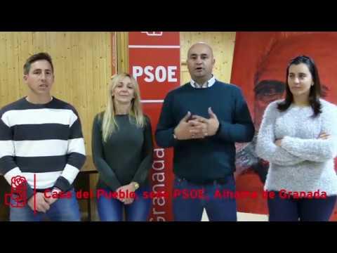 Los socialistas alhameños os deseamos un Feliz 2018