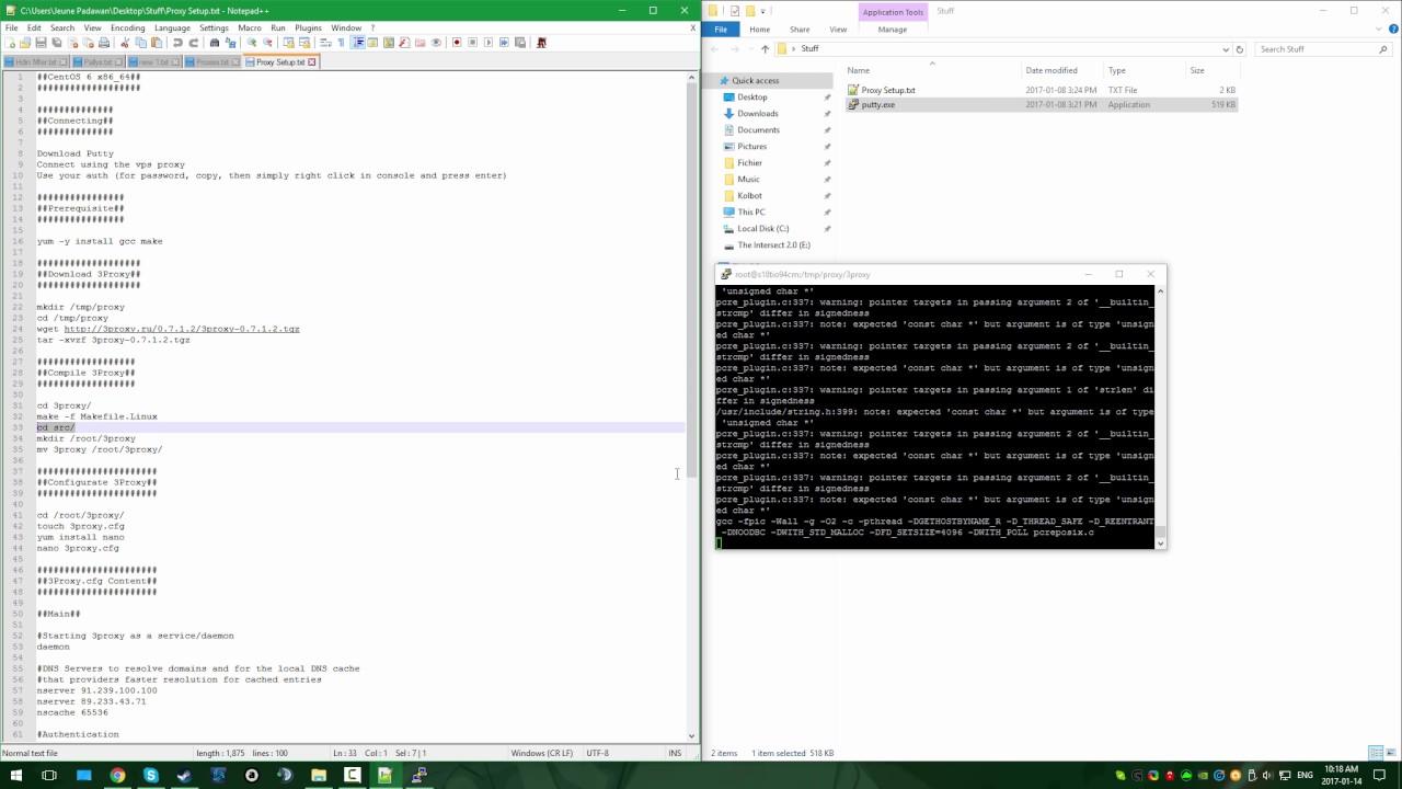 SOCKS5 Proxy Server Setup For VPS With CentOS 2017 [HD]