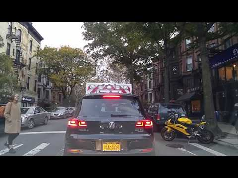 Driving from Gowanus to Crown Heights in Brooklyn,New York
