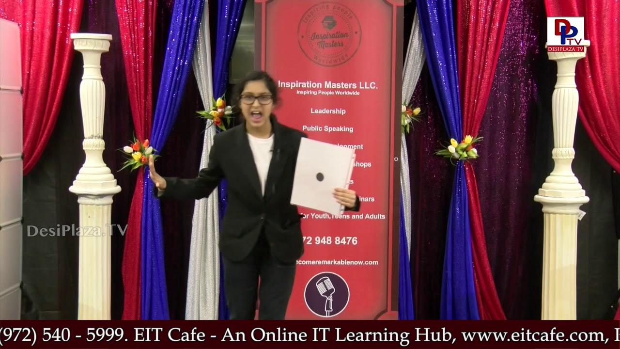 "Young girl talks on ""Black dot on White Paper"" at Talking Bee - Public Speaking Competitions - 2018"