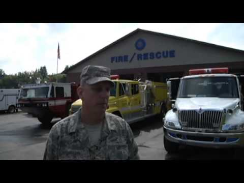 National Guard and Mount Hope Firefighters Support 2013 National Boy Scout Jamboree